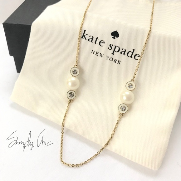 375f13439feb4 New Kate Spade pearly delight necklace NWT